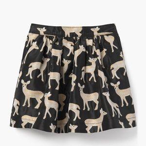 Deer Jacquard Skirt